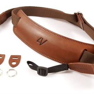 4V Design Classic Lusso Large Neck Strap Brown/Brown