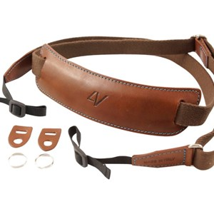 4V Design Classic Lusso Large Neck Strap Brown/Cyan