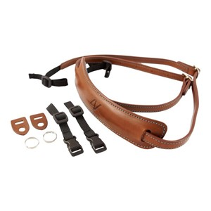 4V Design Lusso Medium Neck Strap brun