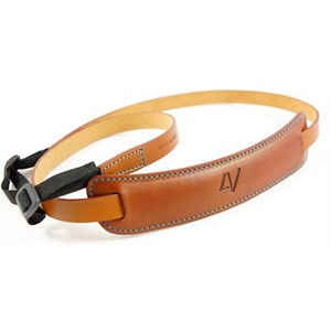4V Design Classic Large Neck Strap Brun