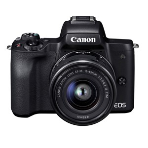 Canon EOS M50 Svart med EF-M 15-45mm f/3,5-6,3 IS STM