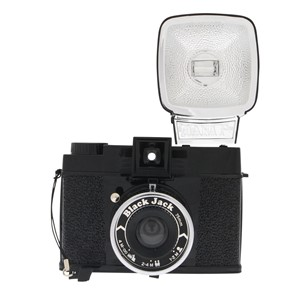 Lomography DIANA F+ with flash black jack