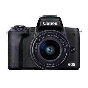 Canon EOS M50 MkII kit. Sort med 15-45mm f/3.5-6.3 IS STM