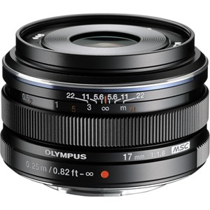 Olympus M.Zuiko 17mm f/1,8 black