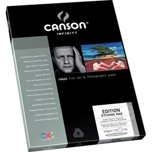 Canson Edition Etching RAG 310g A4 x25