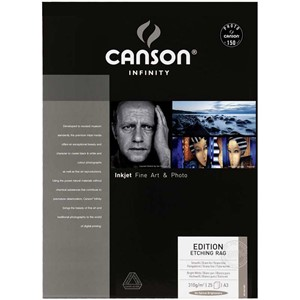 Canson Edition Etching RAG 310g A3+ x25